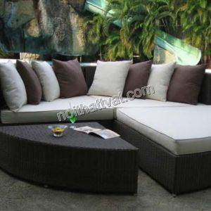 Sofa mây ngoài trời TV 012