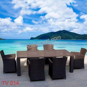 Bàn ghế ngoài trời TV 014