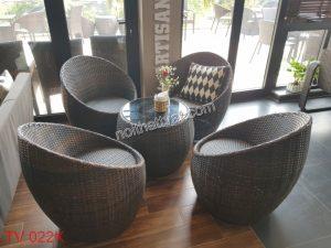 Lợi ích của ghế mây trứng trong không gian các quán café