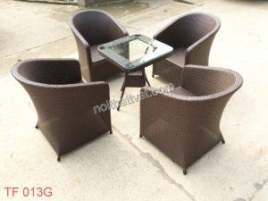 Những bộ bàn ghế café giả mây sinh động trong từng bức ảnh