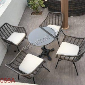 Bàn ghế giả mây cafe TF 056