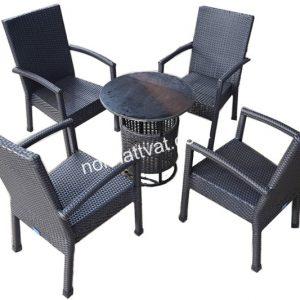 Bàn ghế mây nhựa mang đến nhiều ưu điểm tuyệt vời