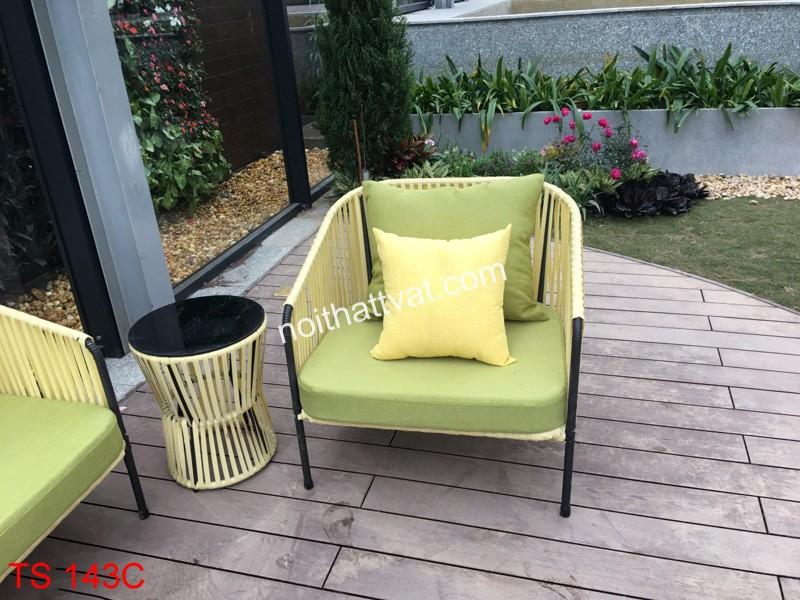 Ghế sofa giả mây thích hợp với nhiều không gian