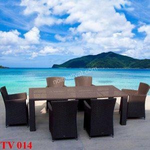 Cách lựa chọn bàn ghế mây ngoài trời bền, đẹp theo thời gian